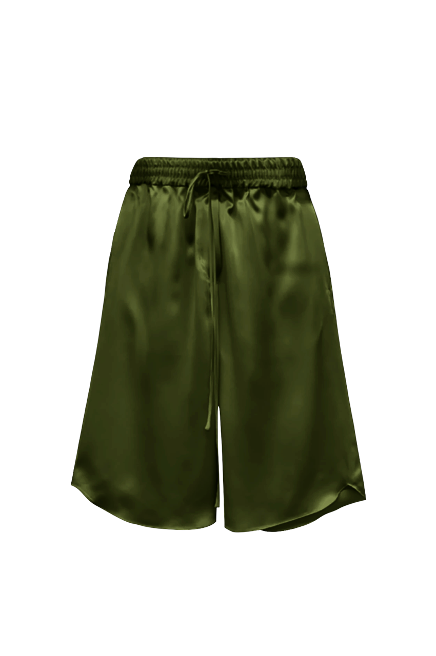 KES Time Out Bermudas, Silk Shorts - Military