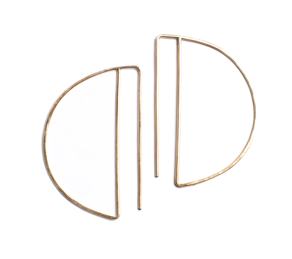 Lila Rice Large Gold Fill  Deco Hoops