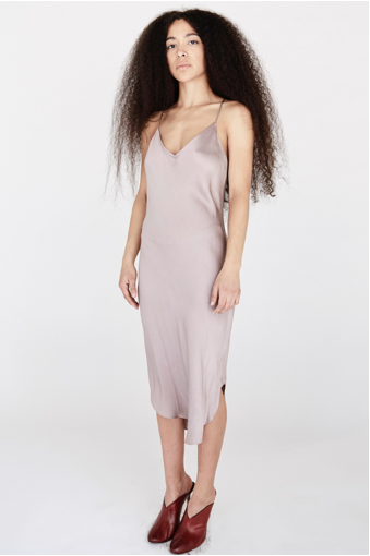KES Elongated Scalloped Slip Dress