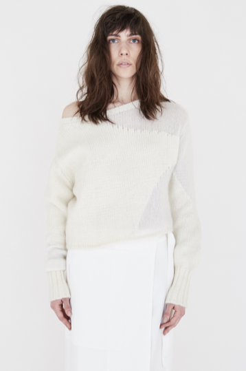 Cropped Intarsia Cashmere Sweater
