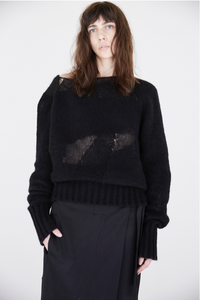Intarsia Cashmere Light Sweater