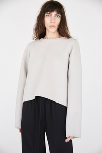 The David Cropped Wool Sweater