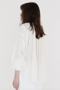 Cuffed Monk Blouse (Cotton)