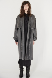Tunneled Satin Trench Coat
