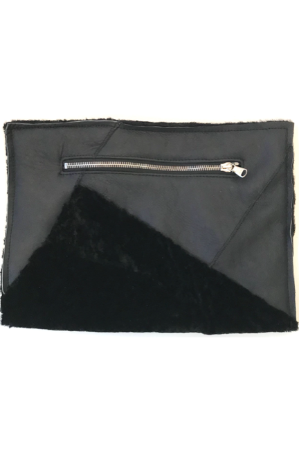 Recycled Shearling Pouch