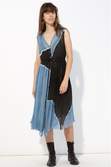 Raquel Allegra Button Up Desert Dress
