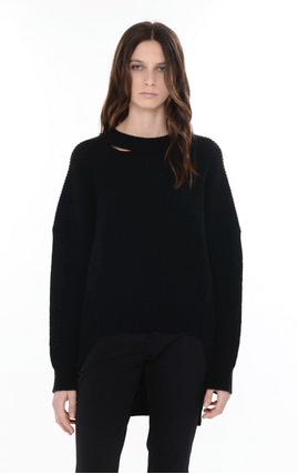 Isabel Benenato Wool Knit Crew Neck