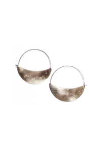 Lila Rice Crescent Hoops