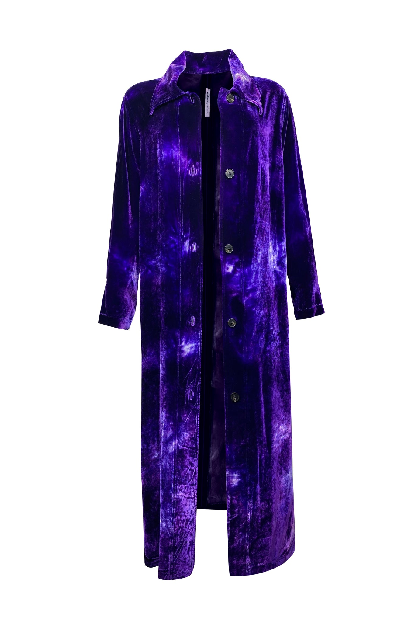 Raquel Allegra House Party Trench - Purple Cloud