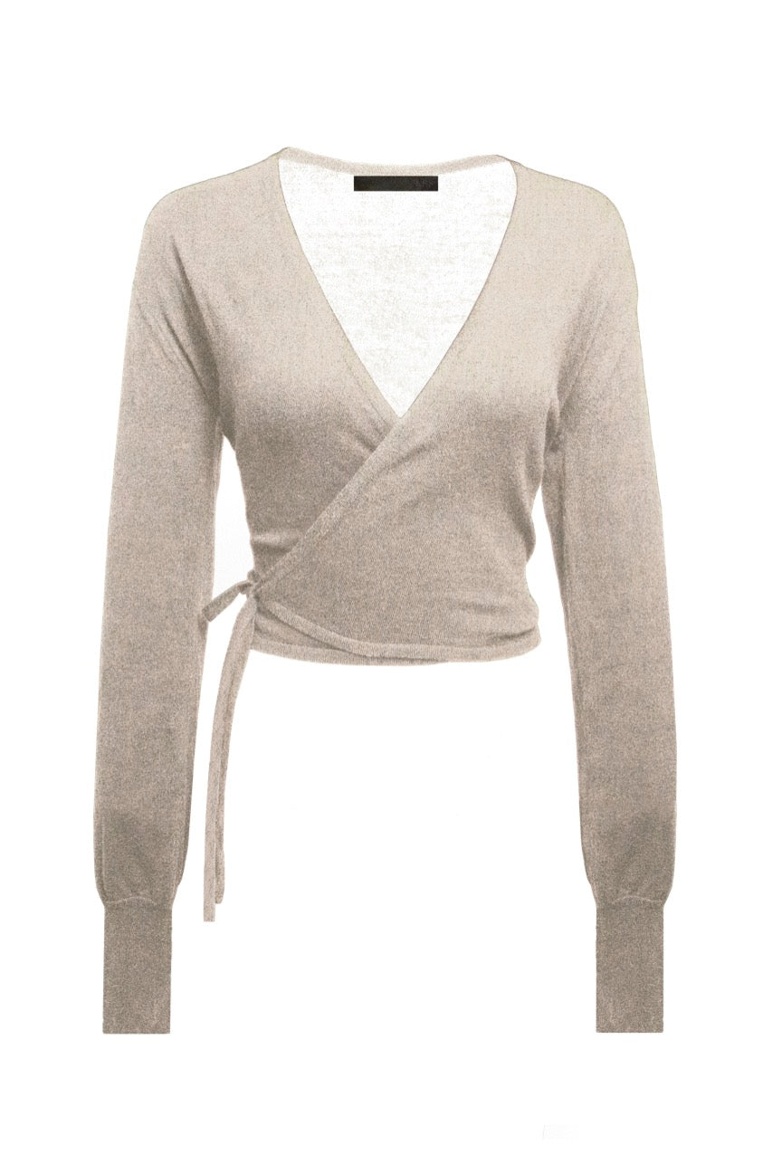 KES Knit Wrap Cardigan- Cloud