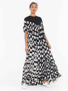 Raquel Allegra Gathered Caftan Maxi Dress