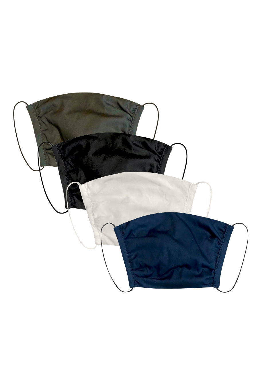 KES Peace Face Covering - Triple Layer Cotton Basic Bundle (4 in 1 Pack)