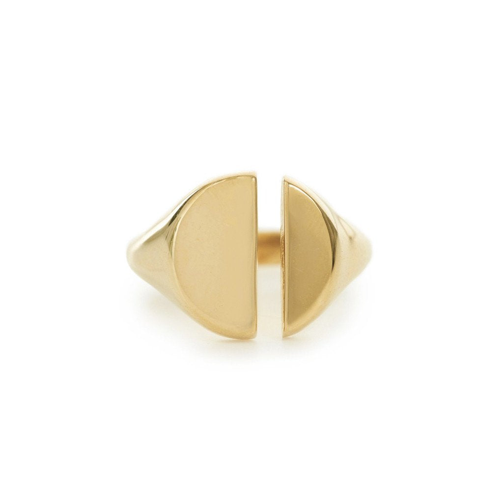 Bing Bang Divided Signet Ring