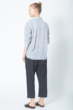KES Collared Button Up - Striped Cotton Voile