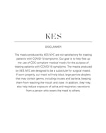 KES The Dreamer Face Mask (1+1 donation) - Black