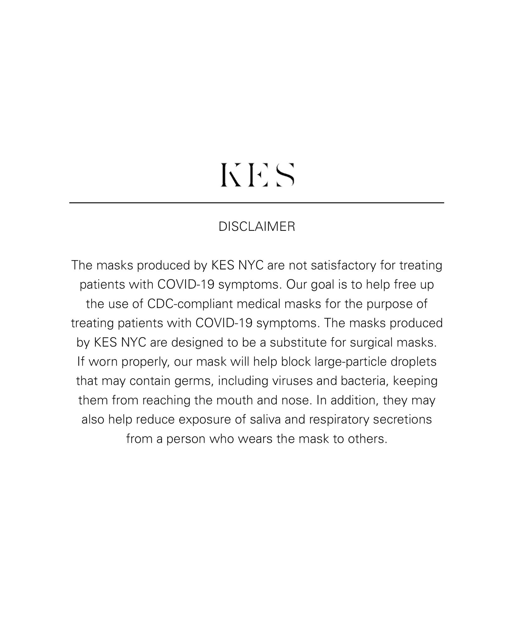 KES The Original Sustainable Washable Face Mask - Natural Cotton