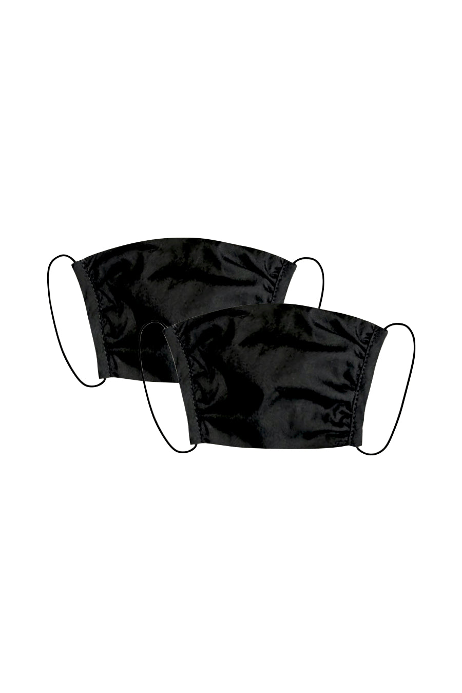KES Peace Face Covering - Black Cotton (2 in 1 Pack)