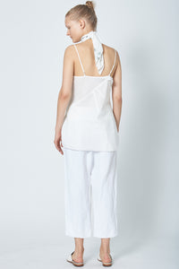 Recycled Ruffle Slip Top - Cotton/Linen