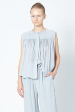 KES Ruched Sleeveless Blouse  - Silk