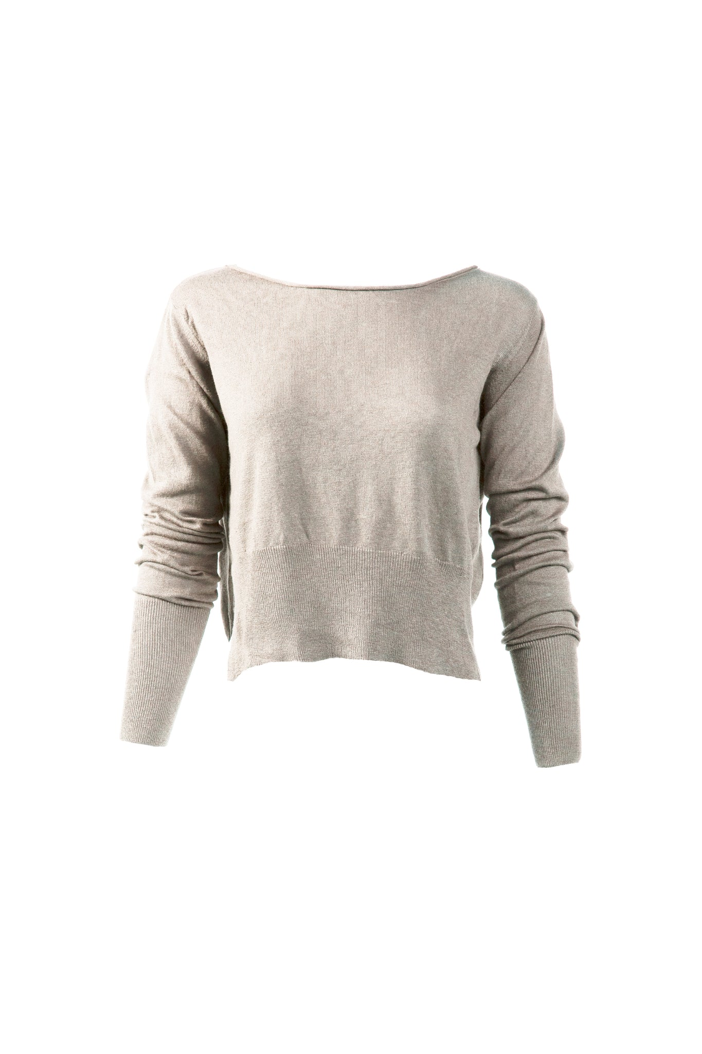 KES Asymmetric Pullover Sweater - Natural