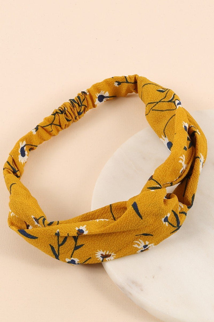 Floral Print Twisted Head Wrap