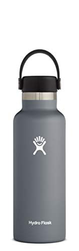 Hydro Flask Water Bottle - Standard Mouth Flex Lid - 21 oz, Stone