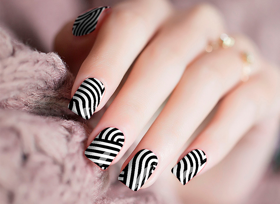 Licorice Stripe Nail Stickers