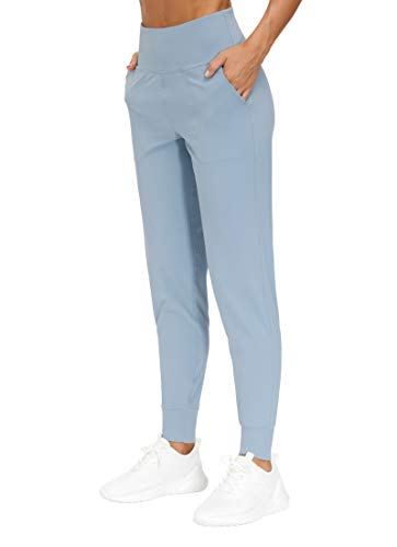 THE GYM PEOPLE Women's Joggers Pants Lightweight Athletic Leggings Tapered Lounge Pants for Workout, Yoga, Running (Large, Denim Blue)