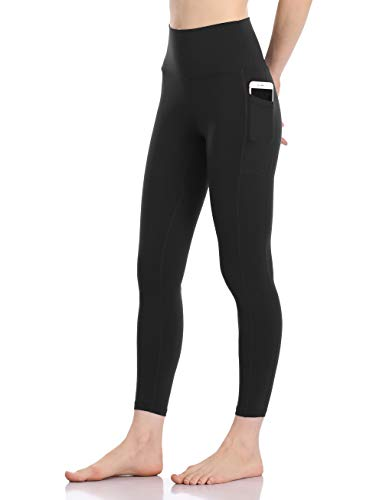 Colorfulkoala Women's High Waisted Yoga Pants 7/8 Length Leggings with Pockets (XS, Black)