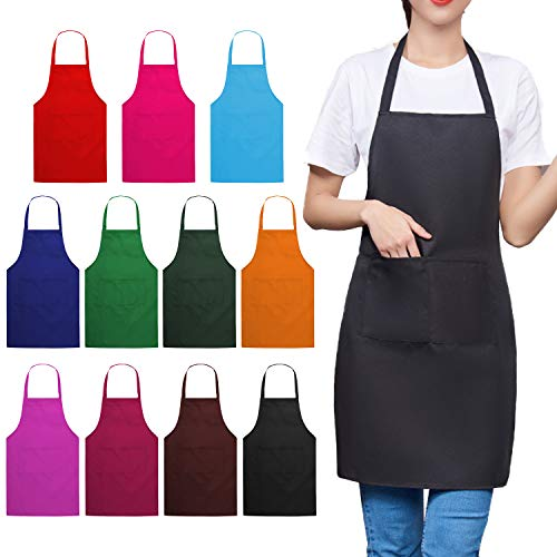 Plain Color Bib Apron (Adult Unisex)