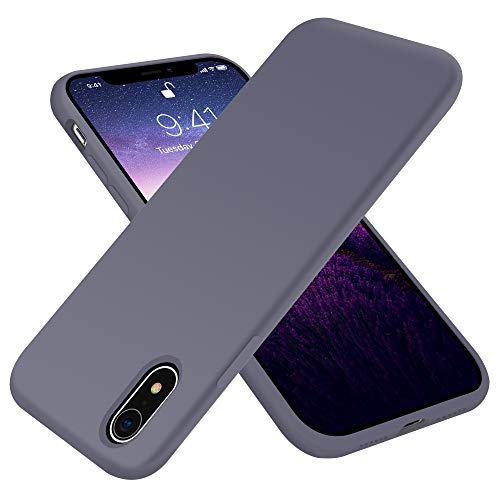 OTOFLY Compatible with iPhone XR Case 6.1 inch,[Silky and Soft Touch Series] Premium Soft Liquid Silicone Rubber Full-Body Protective Bumper Case for iPhone XR (Lavender)
