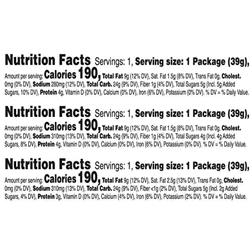 Kellogg's Keebler Sandwich Crackers 3 Flavors Variety Pack - Kids School Lunch Items in Individual Serving Size Packaging (Case contains 45 Count)