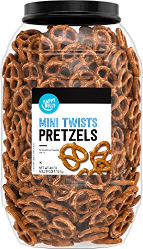 Amazon Brand - Happy Belly Mini Twist Pretzels (40oz)