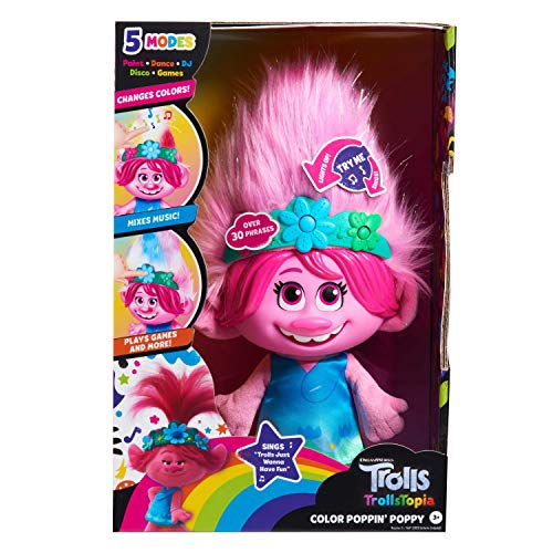 DreamWorks TrollsTopia Color Poppin' Poppy Interactive Plush