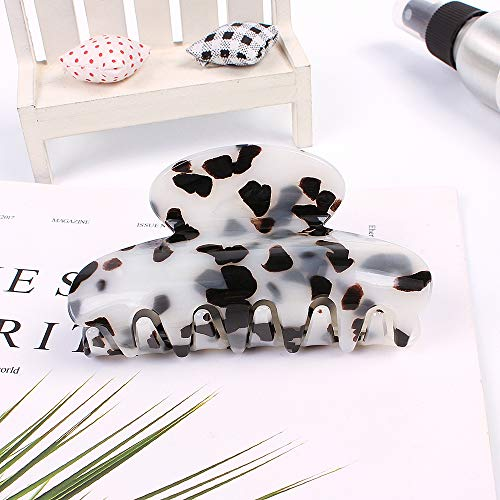 Wooyaya 3pcs Hair Claw Banana Clips tortoise Barrettes Celluloid French Design Barrettes celluloid Leopard print Large Fashion Accessories for Women Girls