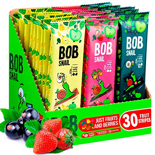 Bob Snail Fruit Bars Variety Pack (30 Count)