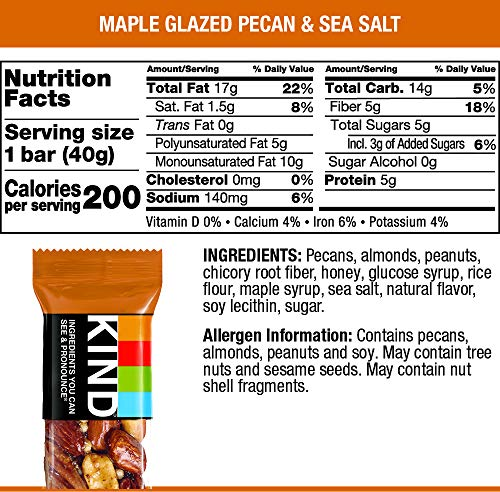KIND Bars, Maple Glazed Pecan and Sea Salt (24 Count)