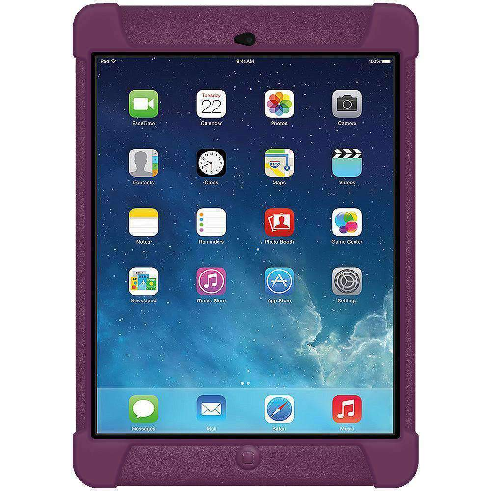 AMZER Shockproof Silicone Case for iPad Air - Purple