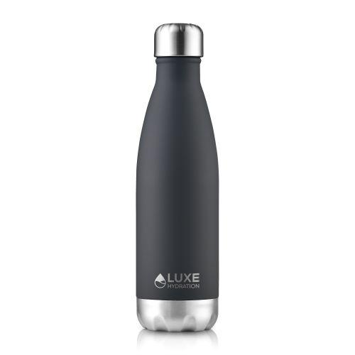 Insulated Stainless Steel Water Bottle 17oz  - Caviar