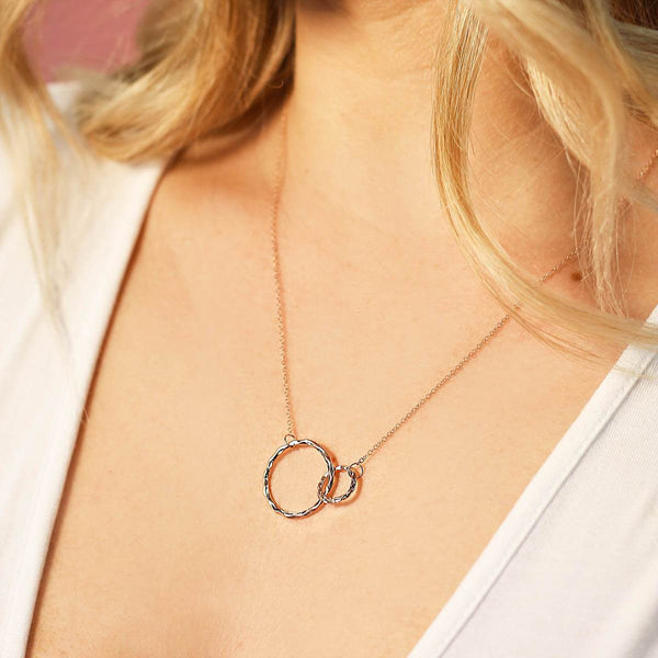 Infinity Circles Layering Necklace
