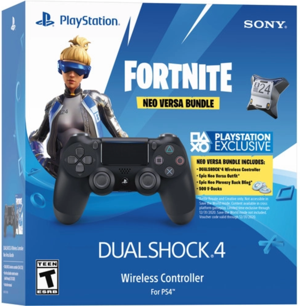 Fortnite Neo Versa Dualshock 4 Wireless Controller Bundle