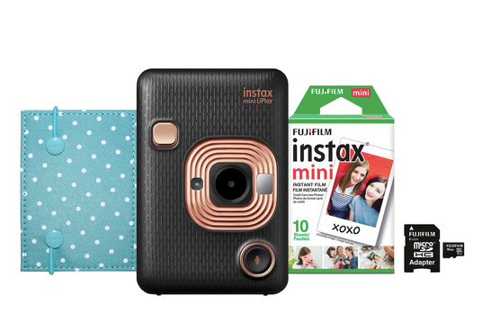 FUJIFILM INSTAX Mini LiPlay Hybrid Instant Camera Bundle