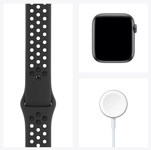 Apple Watch Nike SE (GPS, Space Gray Aluminum, Anthracite/Black Nike Sport Band)