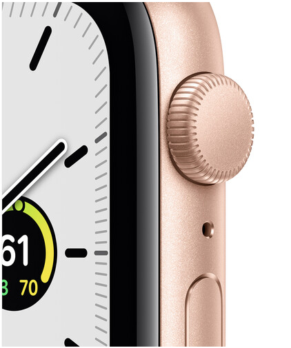 Apple Watch SE (GPS, 44mm, Gold Aluminum, Pink Sand Sport Band)