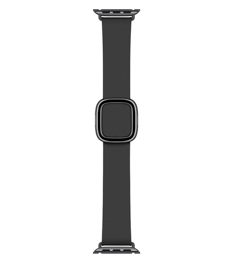 Apple Modern Buckle Band for Apple Watch (40mm, Small, Black)