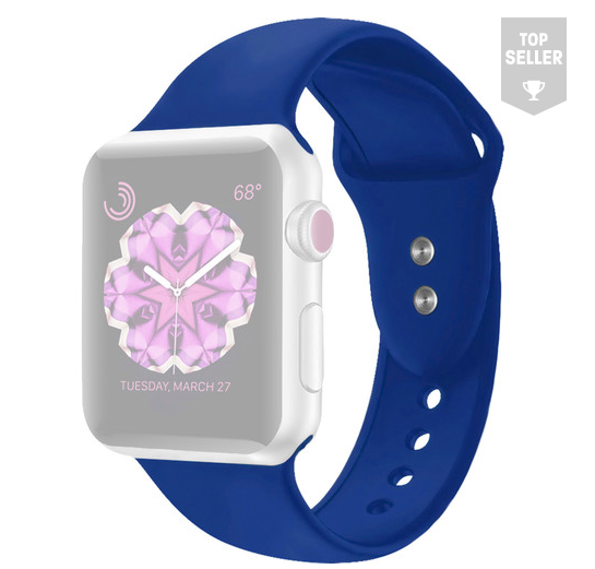 CASEPH Silicone Band for 38mm/40mm Apple Watch (Midnight Blue)