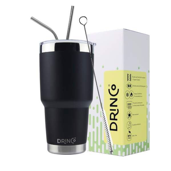 DRINCO® 30oz Insulated Tumbler (Black)