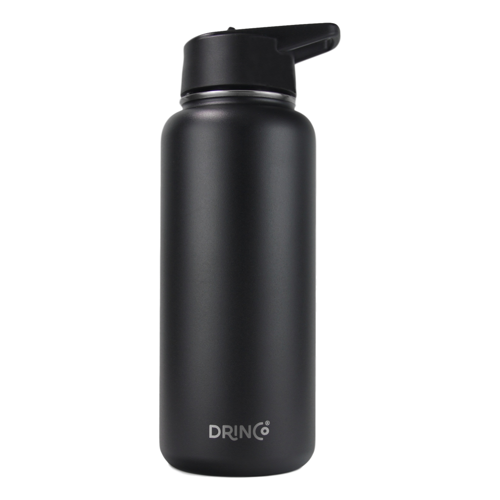 DRINCO® 32oz Stainless Steel Water Bottle- Black