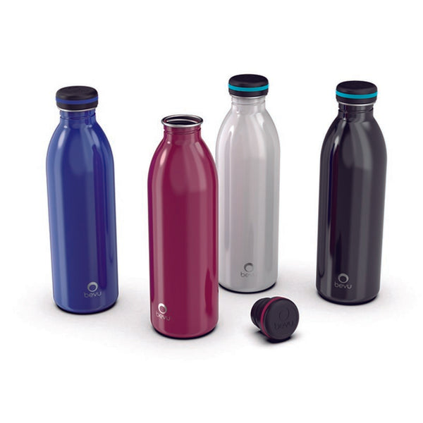 Bevu® ONE Single Wall Water Bottle-Black 750ml / 25oz