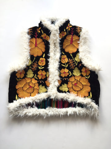 "One of a Kind ""Mama Huipil"" vintage vest- size small"